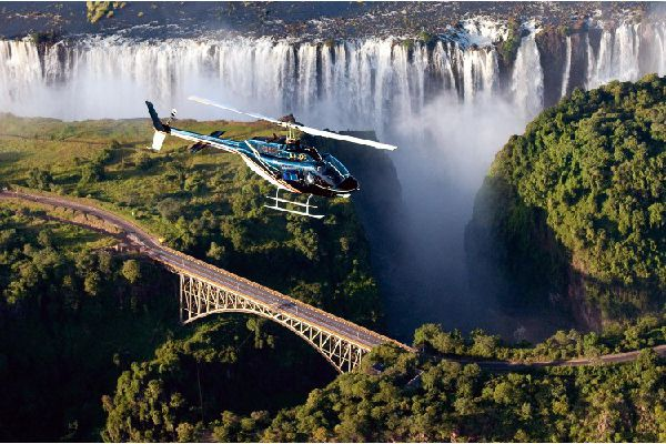 Helicopter view - Victoria Falls